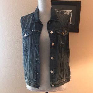 Rag and bone Distressed denim vest